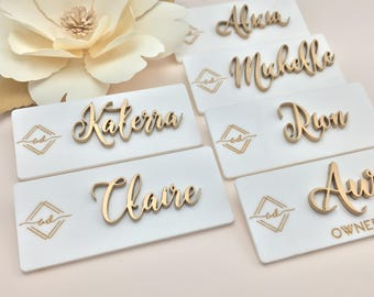 Name Badge with Logo/Title CUSTOMIZED