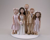 Custom Handmade Family Wedding Cake Topper - reserved for meghwhitley