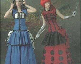 Steampunk Lolita Pattern Bustle Corset Doctor Who Tardis Dalek Cosplay Costume Size 6 8 10 12 14 Loriann Designs Simplicity 1095 UNCUT