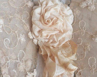 Victorian Romantic Country Silk Rose Angel Wings Wall Decor