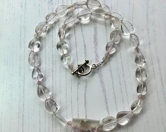 Sale - Amethyst Necklace - Amethyst Crystal Druzy Necklace - Pink Amethyst Necklace