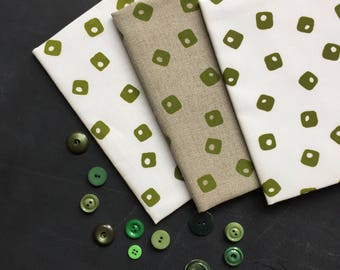 apple tiles hand screen printed fabric panel