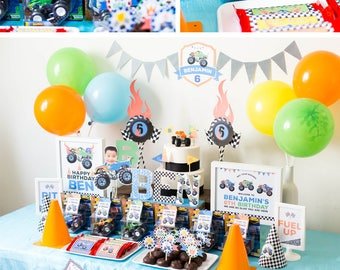 Party Kit: Monster Truck Decorations Party Kit, Monster Truck Party Decorations, Monster Truck Birthday HIGH RESOLUTION Digital Files