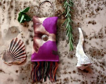 Charmed--Talisman Lavender Sachet Art Object, a Miniature Wall Hanging, a Just Because Thing