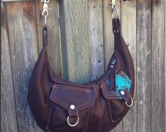 POCKET HOBO - leather hobo bag with pockets - custom leather bag - crossbody bag - cross body hobo - zippered crossbody bag - custom hobo