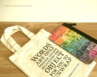 Rainbow Pencil Case - Zippered Pouch for Stationery or Travel Essentials