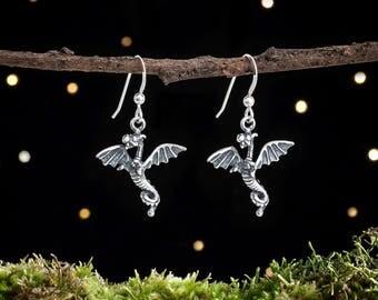 Sterling Silver Baby Dragon Earrings