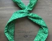 Wire Headband, Dolly Bow, yoga wire headband, head wrap, knot headband, twist headband, St Patricks day headband , green headband