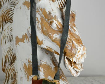 Boho Leather Bag, Suede Patchwork, Boho Bag, Suede Cross Body, Small Handbags, Earthtone Leather Bag, Girls Purse, Vintage Bags, 70s Purses
