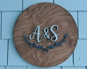 Monogram Sign, Family Letter Sign, Custom Letter Wood Sign, Last Initial Wood Sign, Monogram Decor, Hand Painted Wooden Sign