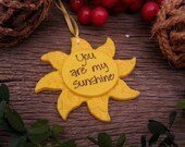 You Are My Sunshine Ornament Personalized