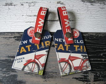 New Belgium Fat Tire Luggage Tag Set