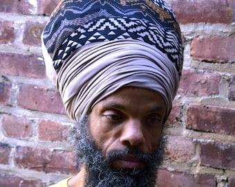 Papa -Yo EZ Wrap - Ready Wraps- Stretch Turban- Stretch Wraps-Men - MenHeadwear- Dread Locs Men-Choose a Length