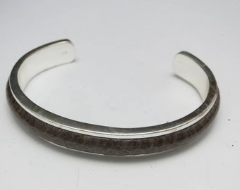 Sterling silver cuff bracelet SnakeSKIN