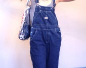 SOLD - - Womens Overalls, 90s Overalls, Denim Overalls, Vintage Overalls, Blue Jean Overalls, 90s dungarees, Boxy Overalls, Sz M