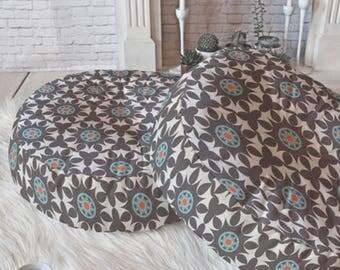 Geometric Floor Pillow // Round & Square // Moroccan Style // Dorm Decor // Home Decor // Floor Cushion // Amirah Design // Floor Cushion