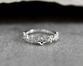 925 sterling silver ring FLOWERS