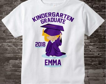 Kindergarten Graduate Shirt, Personalized for your child with year, name and color 05152013d