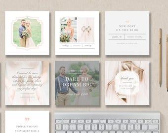 Social Media Marketing Templates - Pre-made Branding Designs - Instagram Post Template - Design By Bittersweet