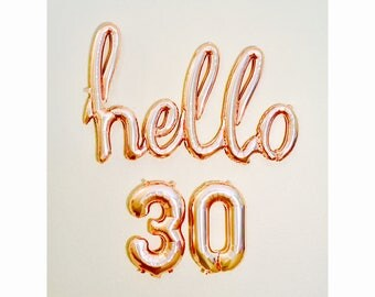 Rose Gold Hello 30, Hello 30, 30th Birthday, Hello 40, Hello 21, Hello 50, Hello 60, Hello 25, Rose Gold Birthday, Rose Gold Balloons