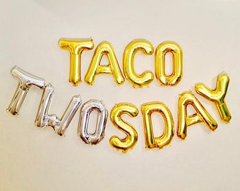 TACO TWOSday Balloons, 2nd Birthday Party, 2 year Old, Taco Party, Taco Bout 2, Taco Bout It, Taco Bout A Party, Tacos, Taco Tuesday