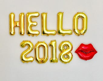 Hello 2018 Balloons, New Years Eve party, New Year Balloons, New Years Eve party, New Years 2018, Happy New Year Balloon Letters, #NYE