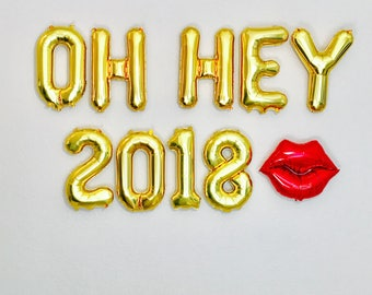 2018 Balloons, New Years Eve party, New Year Balloons, New Years Eve party, New Years 2018, Happy New Year Balloon Letters, #NYE