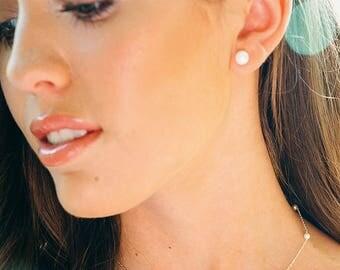 Pearl Stud Earrings | Freshwater Pearl Studs | Pearl Earrings