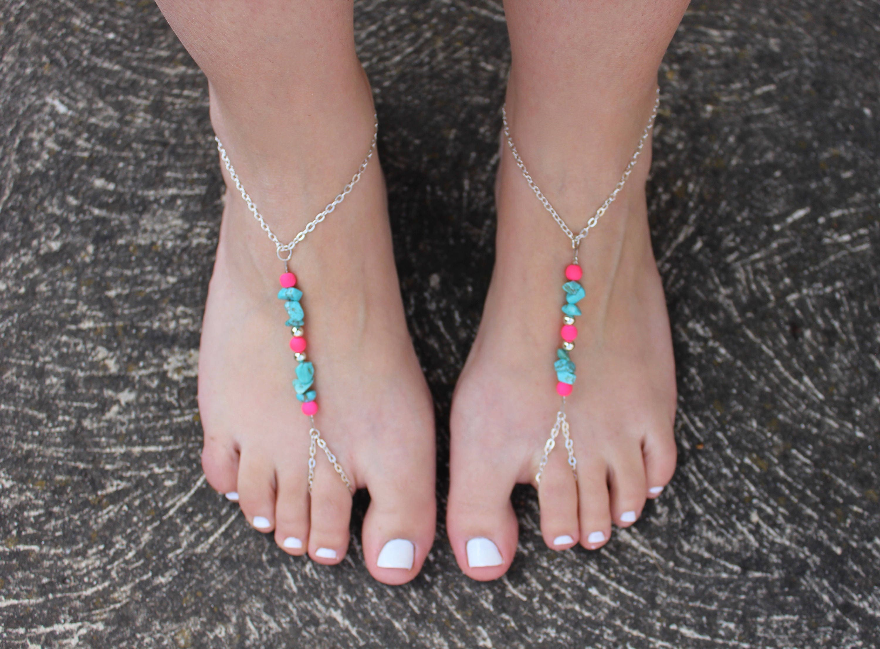 jewelry attached foot fullxfull anklets listing with barefoot summer elastic zoom bbod sandals il anklet