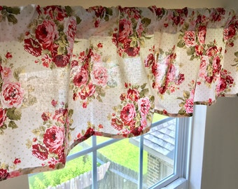 Rambling Rose Window Valance, Window Panels, Rambling Roses Curtain Panels,  Childrenu0027s Curtain Panels