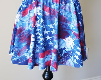 Red white blue skirt | Etsy