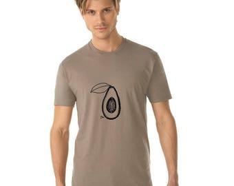 Men's Avocado Shirt, Fresh Produce, Guacamole Shirt, Gifts for Men, Vegan Tshirt, Vegetarian Shirt, Keto Diet Food, Foodie Gift Healthy Food