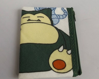Pokemon-Snorlax Coin Purse-Handmade