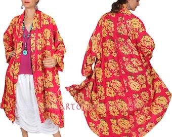 SunHeart Goddess BATIk HEROINE Coat RESORTWEAR Floral boho Hippie Chic Shaman one size Sml Med Large xl 1x 2x 3X 4X 5X 6X 7X
