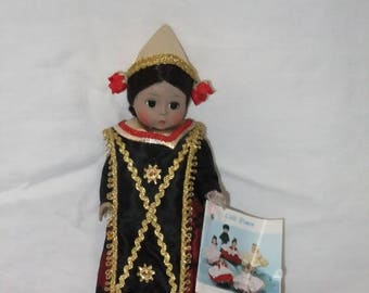 Vintage Madame Alexander Indonesia Girl Doll 579 International Series 1984 with Tag 8 Inch Miniature Indonesian Little Women