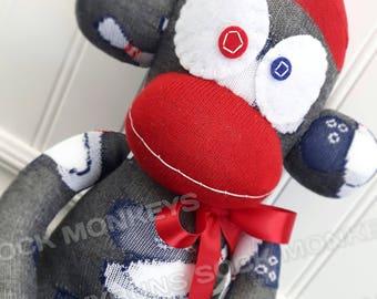 Large Bowling Sock Monkey - optional Name Embroidered