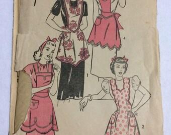 Années 1950 l'avance 4312 tablier couture patron-taille moyenne (16-18)