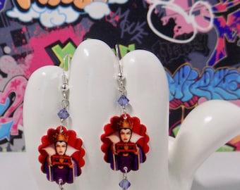Evil Queen Scalloped Dangle Earrings