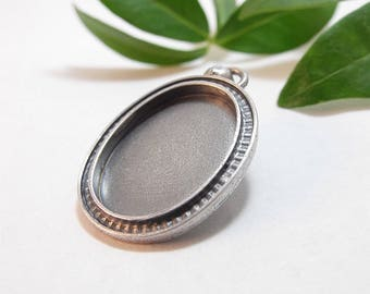 Oval Bezel in Sterling Silver, Silver Bezel for Polymer, Resin, or Concrete Jewelry