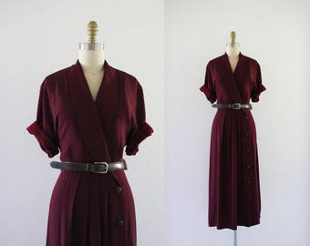 new old stock / mulberry belted dress / m-l