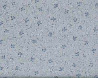 Blue Tone on Tone Floral Cotton Quilt Fabric Blender, Shabby Chic, Poppies Collection, Fat Quarter, Yardage, MAS8788-B