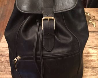 80's Coach Leather Back Pack