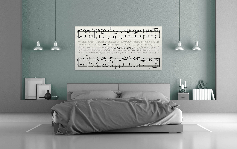 Cotton Anniversary Gift Song Lyric Wall Art Sheet Music Canvas