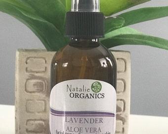 ORGANIC Toners/Lavender Aloe Vera Toner/4oz