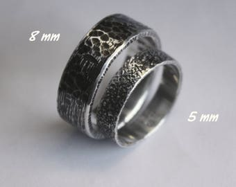 BOLD set of two rings. The WHATEVER rings. Philosophy, history, art in one of a kind rustic distress design. Custom message inside.
