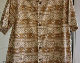 Vintage J. Peterman Cotton Summer Shirt Size Large Made In India