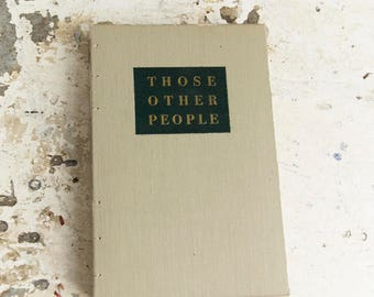 1946 THOSE OTHER PEOPLE Vintage Lined Notebook Journal