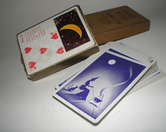 "Antique Tarot ""Gypsy Witch"" Fortune Telling Cards 1920s-30s Unique Boxed Deck Great For Use Or Craft - Not Reproductions"