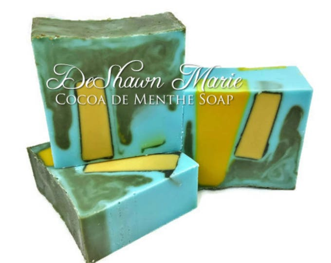 SOAP - 3lb Cocoa de Menthe vegan handmade soap loaf, wholesale soap, wedding favors, soap gifts