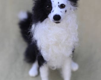 Made to order custom needle felted dog, memorial, portrait, wool sculpture, Border Collie or your dog's breed, 6-8 month turnaround time